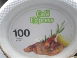 Cafe Express Plastic Plates 23cm 100 count   Fairdinks