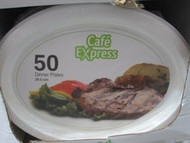 Cafe Express Oval Dinner Plate 50 count | Fairdinks