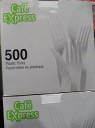 Cafe Express Plastic Forks 500 Count | Fairdinks