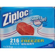 Ziploc Freezer Bag Quart Size. 216 Count | Fairdinks