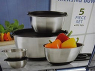 Kirkland Signature Stainless Steel Bowl Set 5 Piece With Lids | Fairdinks