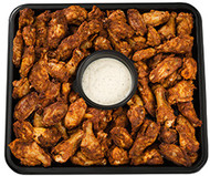 Buffalo Chicken Wings Platter with Cheese Dressing (48 hours notice required)