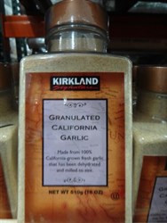 Kirkland Signature Granulated Garlic 510g   Fairdinks