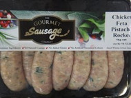 The Gourmet Sausage Co. Chicken, Feta & Pistachio Sausages 1kg | Fairdinks