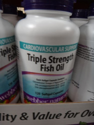 Webber Naturals Triple Strength Fish oil 120 Count | Fairdinks