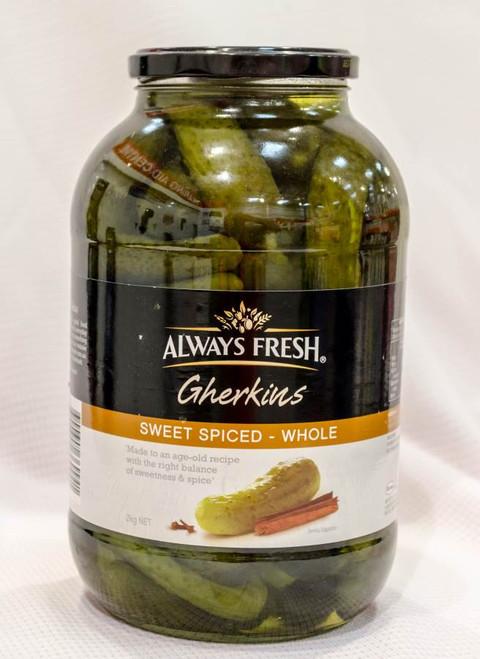 Always Fresh Sweet Spiced Gherkins 2KG | Fairdinks