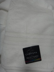 Charisma Bath Towel: White 670GSM 76cm x 147cm - 1 | Fairdinks