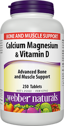 Webber Naturals Calcium, Magnesium & Vitamin D 250 Count | Fairdinks