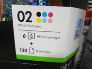 Hewlett Packard 02 Rainbow 6 Ink + 120PK 6x4 Photo Paper Value Pack | Fairdinks