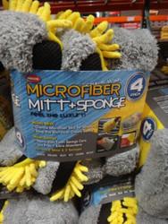 Carrand Microfibre Mitt & Sponge 4PK Combo | Fairdinks