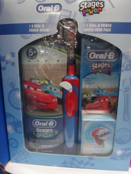 Oral B Stages Power Kids Electric Toothbrush With 2 Pack Refill - Cars | Fairdinks