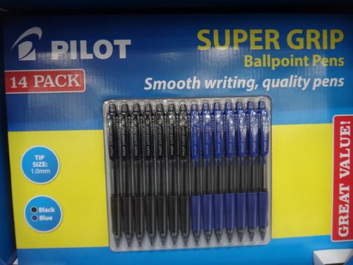 Pilot Super Grip Retractable Ballpoint Pen 14 Pack | Fairdinks