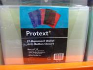 Protext Document Wallets & Case Button 12PK -1 | Fairdinks