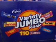 Cadbury Variety Jumbo Pack 110 Pieces + Mars 116 VARIETY MIX - 1 | Fairdinks