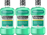Listerine Freshburst Mouthwash 3 x 1L | Fairdinks