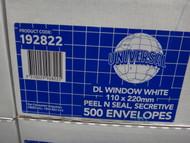 Universal Envelopes Window White 110x220 MM 500 Pack | Fairdinks
