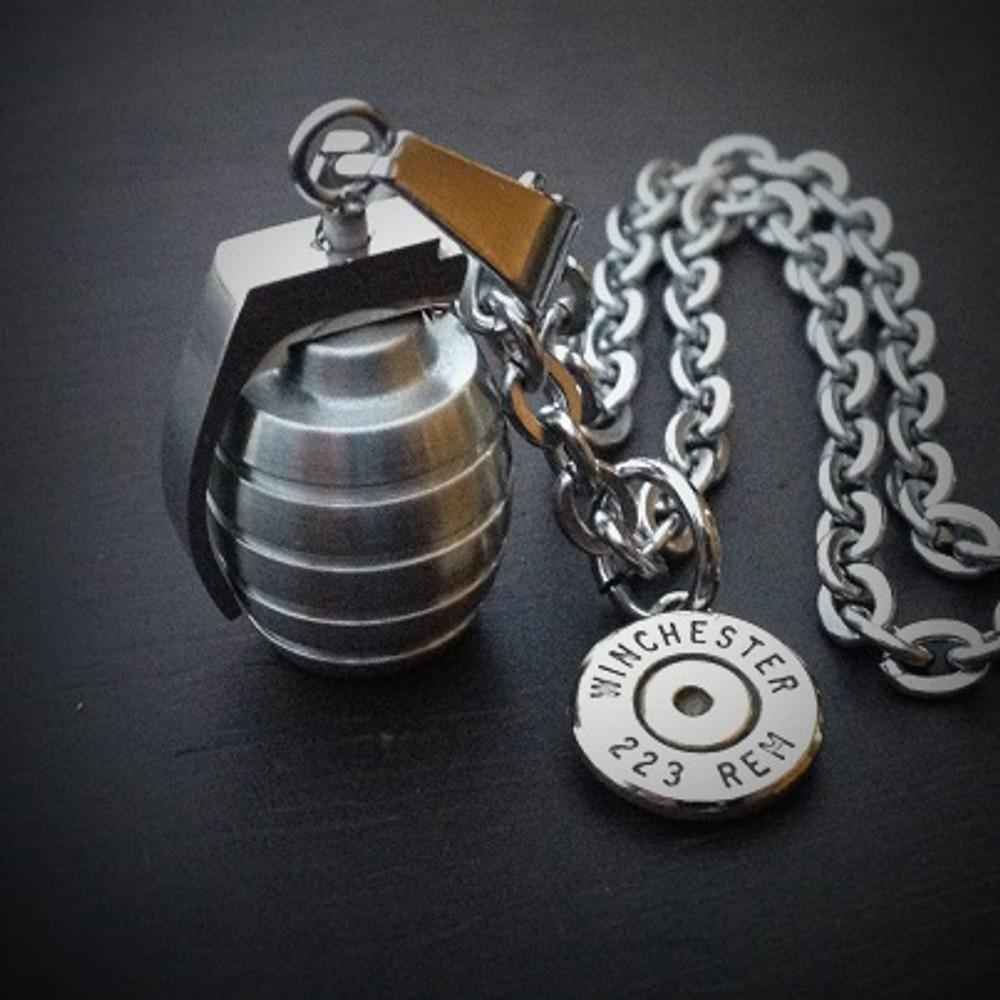 Grenade Bullet Necklace