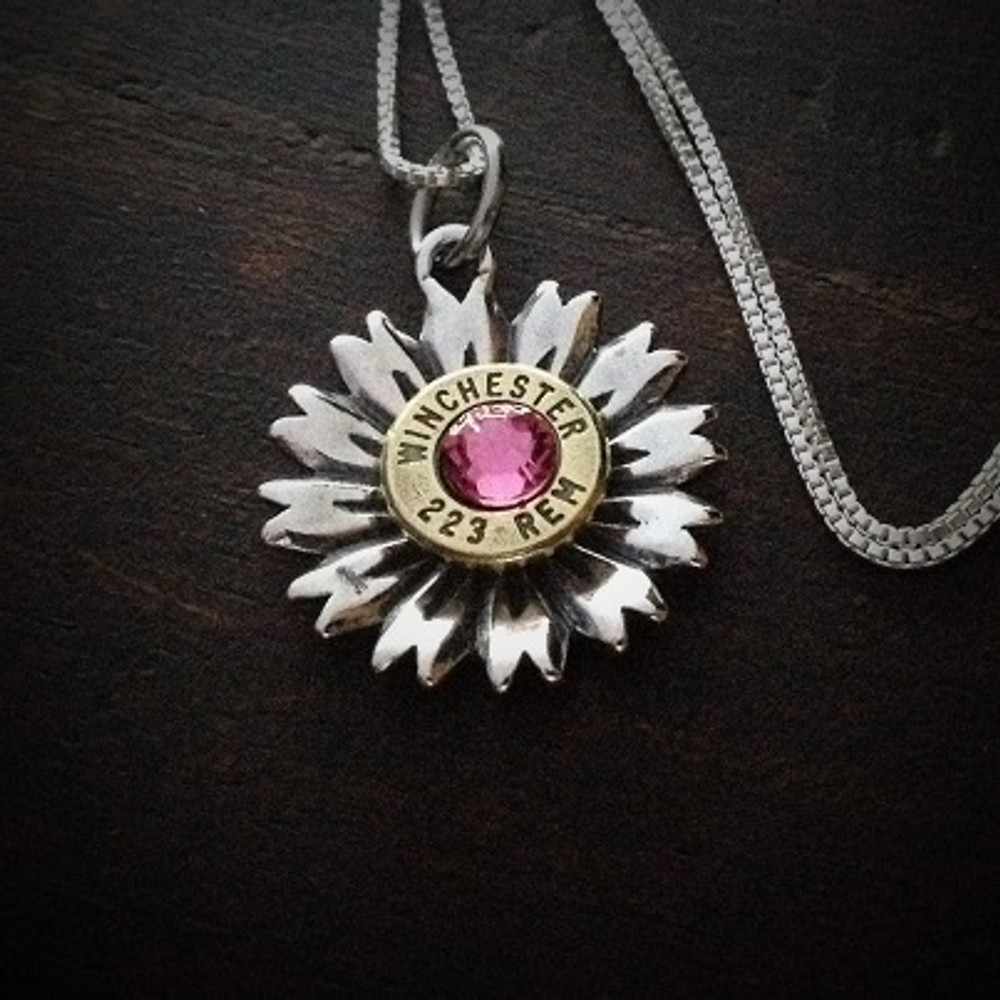 Flower Bullet Necklace
