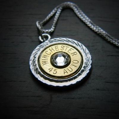 Diamond Cut Bullet Necklace