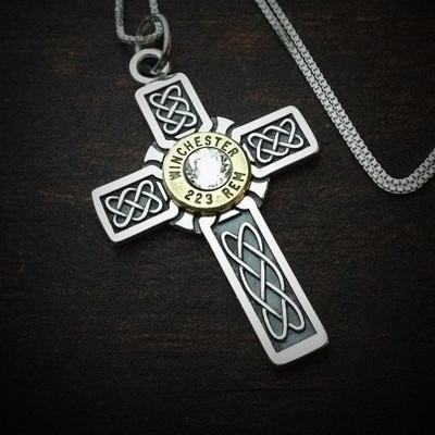 Vitality Cross Bullet Necklace for Women