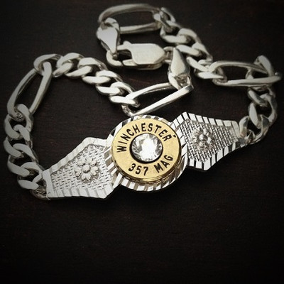 Diamond Cut Bullet Bracelet