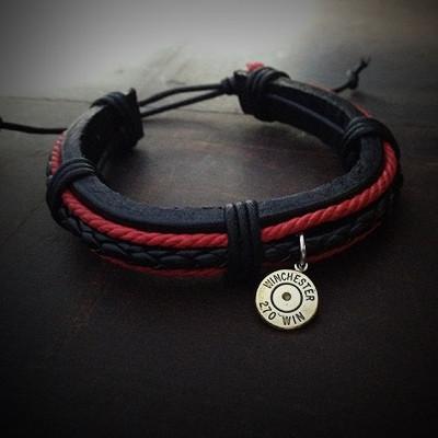 Leather Bullet Bracelet