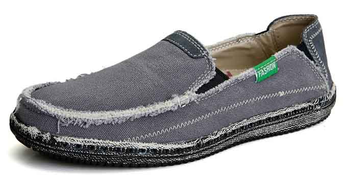 0730c058d47 Grey casual denim style Converse slip on shoe loafer 01