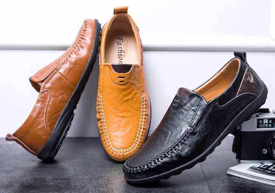 Men's ornament decorated urban slip on shoe loafers