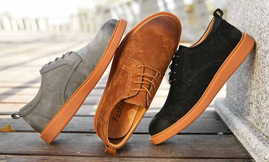 Men's leather derby dress shoes