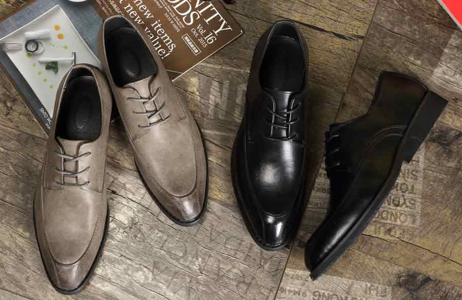 Men's two tone leather derby dress shoes