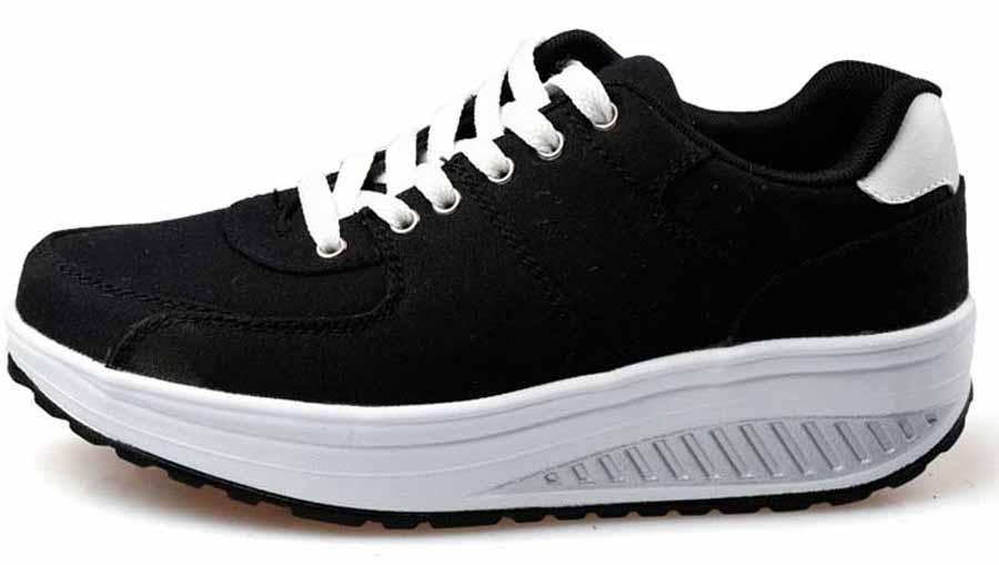 Women s black casual canvas rocker bottom shoe sneakers 490c6c541dc9