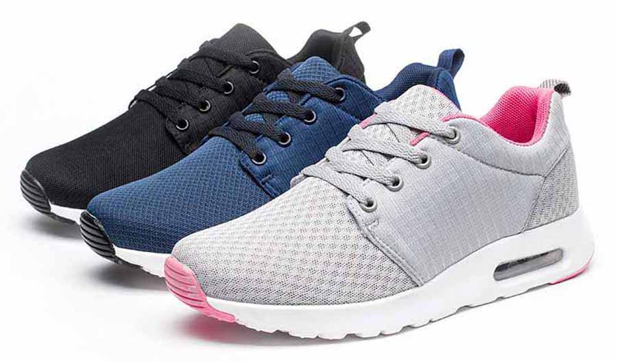 Women's casual check detail sport shoe sneakers