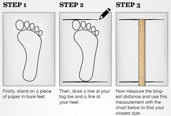 Shoe Sizes In Inches - Shoes For Yourstyles
