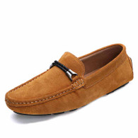 Yellow twin rope leather slip on shoe loafer 01