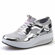 Grey casual leather rocker bottom shoe sneaker 1709 01