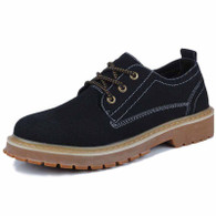 Black brogue retro leather lace up dress shoe 01