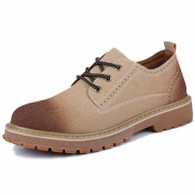 Brown brogue retro leather lace up dress shoe 01
