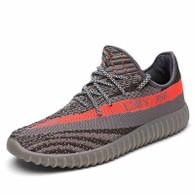 Grey flyknit pattern label sport shoe sneaker 01