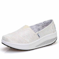 White stripe slip on rocker bottom shoe sneaker 01