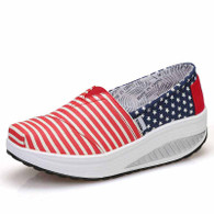 Red stripe star slip on rocker bottom shoe sneaker 01