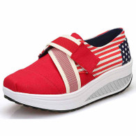 Red stripe star velcro rocker bottom shoe sneaker 01
