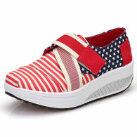 Red stripe star velcro rocker bottom shoe sneaker 1777 01