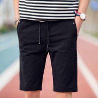 Keep casual black short elastic waist 01