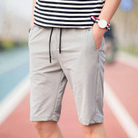 Keep casual grey short elastic waist 01