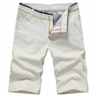 Khaki short casual plain color 01