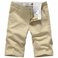 Khaki short simply urban plain color 01