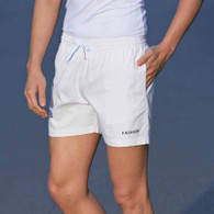 White short casual elastic waist with pockets 01