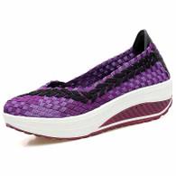 Purple arrow check low cut slip on rocker bottom shoe sneaker 01