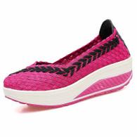 Rose red arrow check low cut slip on rocker bottom shoe sneaker 01