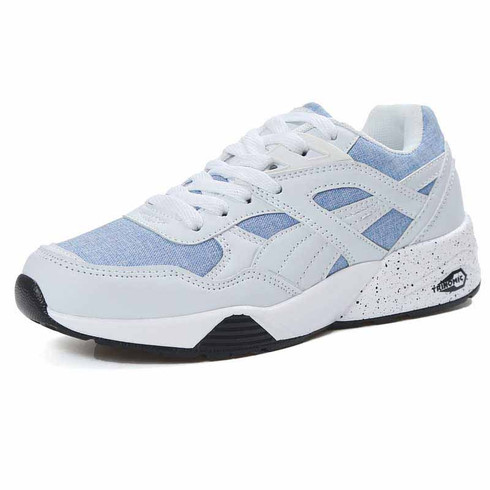 white denim blue casual sport shoe sneaker  womens